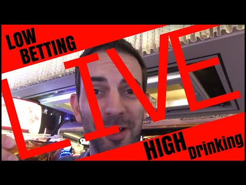 🔴  LIVE - LOW Betting + HIGH Drinking 🍾🍷🍸 Brian Christopher Slot Fruit Pokie Machines