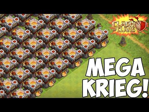 MEGA KRIEG! 100 mal RATHAUS 11! ☆ Clash of Clans