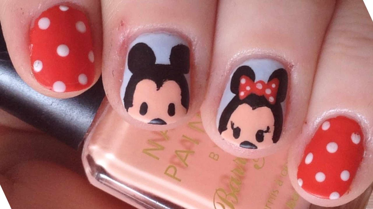 Tsum tsum mickey minnie nails youtube tsum tsum mickey minnie nails youtube prinsesfo Image collections