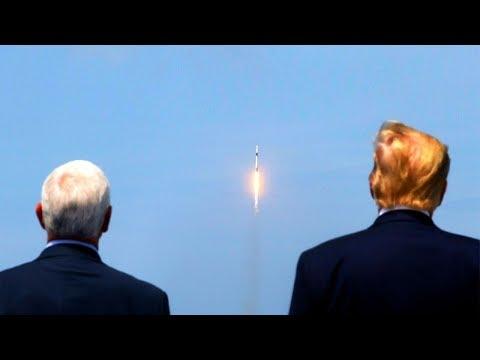 Дональд Трамп понаблюдал за запуском космического корабля Crew Dragon
