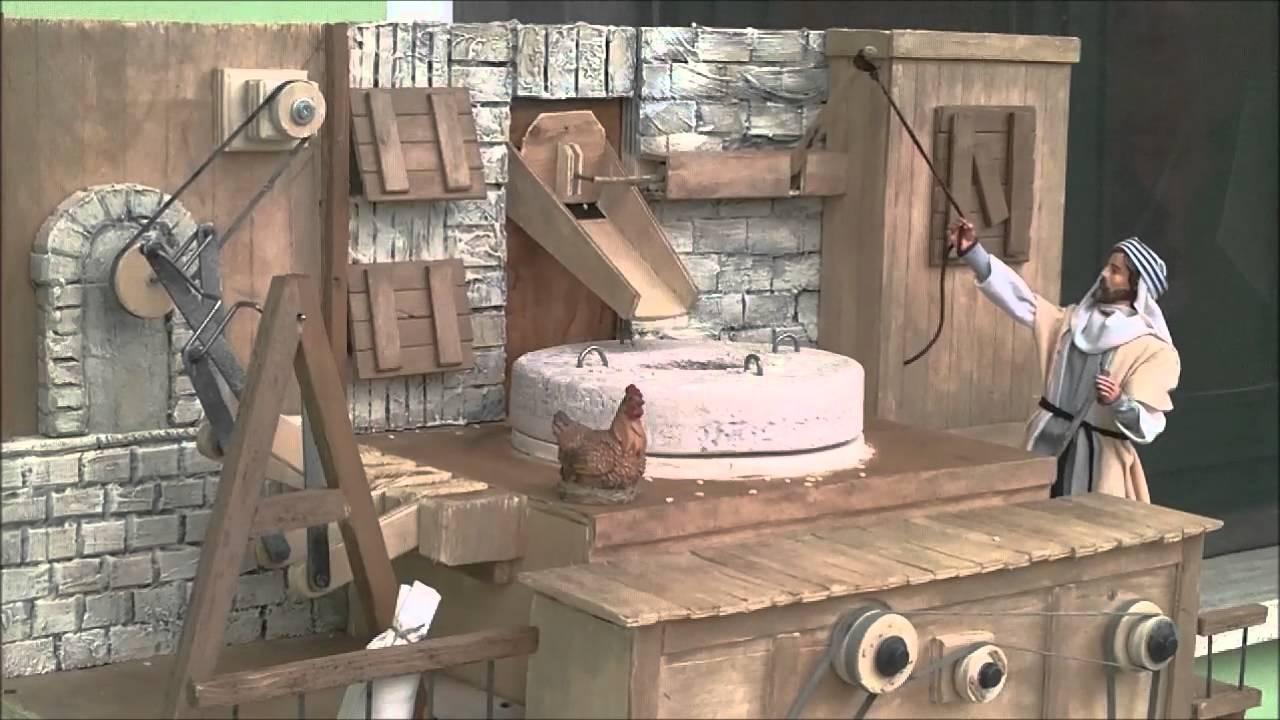 Filmato mulino presepe con personaggi da 30 cm - YouTube