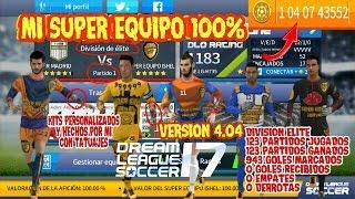 impactante super hack version 4.04 dream league soccer 17 mi super equipo invicto 100% en elite