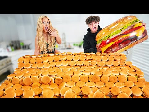 Who Can Eat The Most Burgers in 24 Hours Challenge