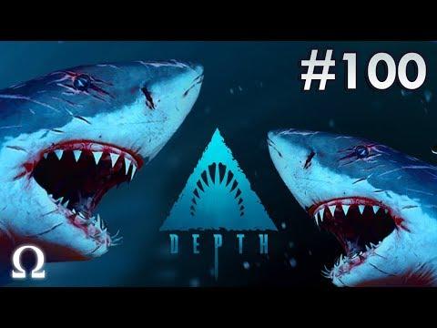 PATCHES THE FRANKENSTEIN SHARK!  (DEPTH EPISODE #100!) | Depth Divers vs Sharks Ft. Cartoonz