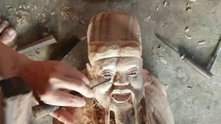 Đôi mắt ♥️👍 điêu khắc đôi mắt biết cười cho tượng gỗ