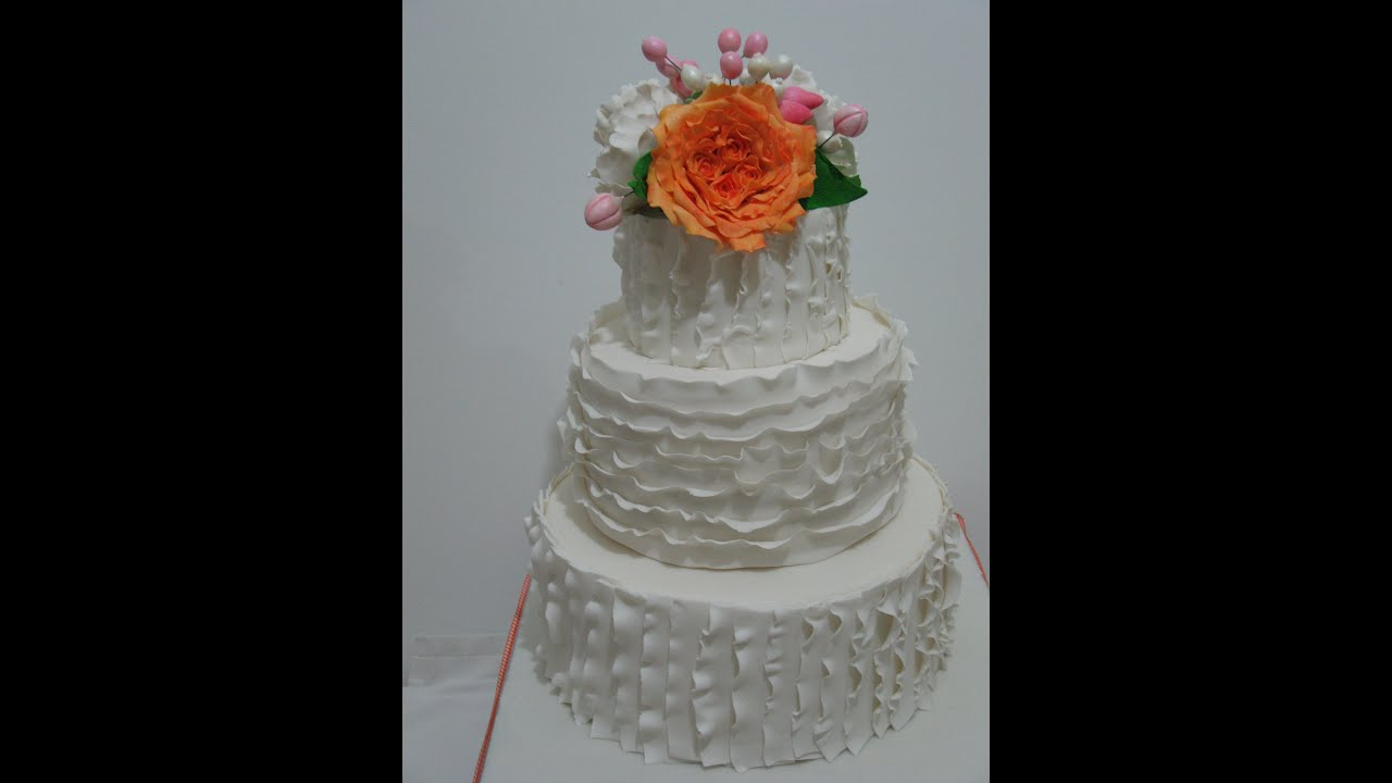 how to make ruffle wedding cake how to make a ruffle wedding cake 15989