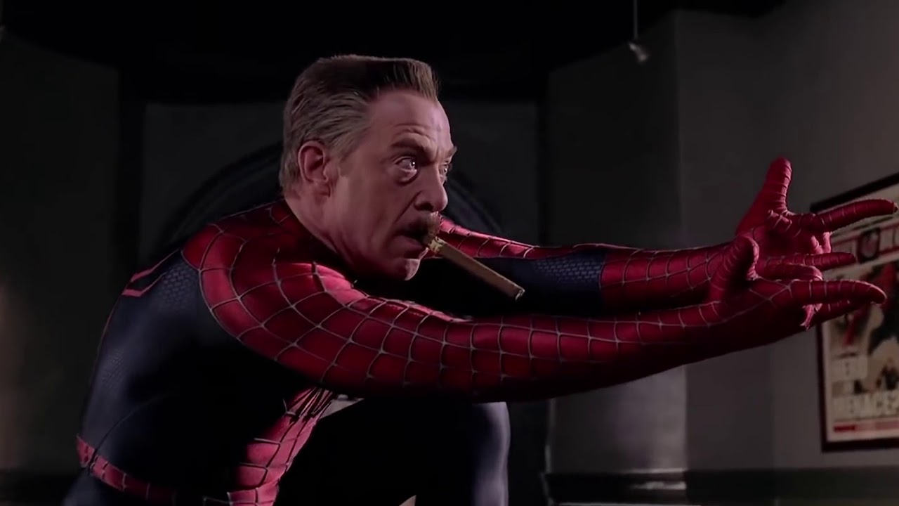 J Jonah Jameson as Spider-Man! JK Simmons puts on the suit | Far ...