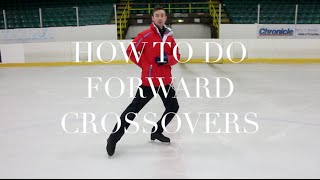 HOW TO DO FORWARD CROSSOVERS | FIGURE SKATING ❄️❄️