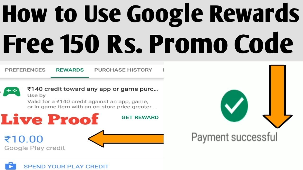 How to Use Free Rs 150 Reward, Promo Code & Purchase Online Game ||