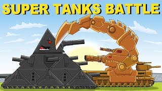 """Mega Tanks on Battlefield"" Cartoons about tanks"