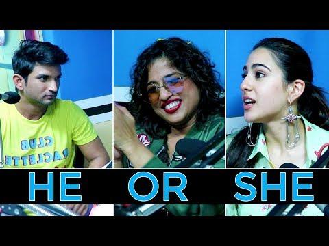 Sara Ali Khan vs Sushant Singh Rajput in He Or She Game with Malishka | Kedarnath | Red FM Mp3