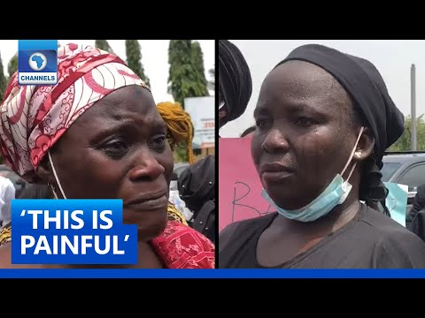 Mothers Of Abducted Kaduna Student Burst Into Tears During Protest