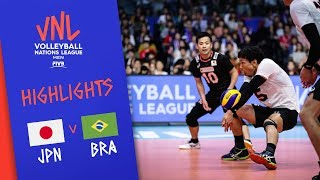 JAPAN vs. BRAZIL -  Highlights Men | Week 2 | Volleyball Nations League 2019