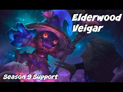 League of Legends: Elderwood Veigar Support Gameplay