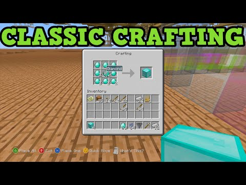 Minecraft Xbox 360 + PS3 - HOW TO USE CLASSIC CRAFTING GUIDE