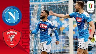 Napoli 2 0 Perugia Insigne Sends Napoli to The Quarter Finals Round of 16 Coppa Italia