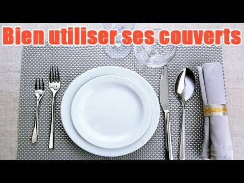 Conseils utiliser les couverts table youtube for Couvert table disposition