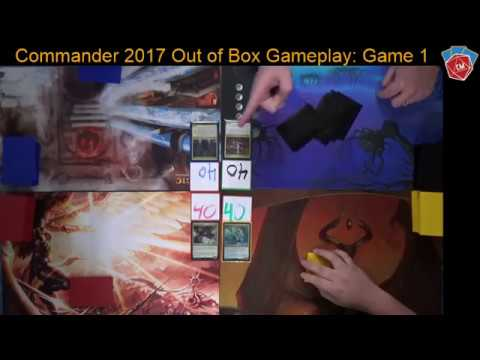 Commander 2017 Out of the Box Gameplay - Game #1 Edgar, Inalla, The Ur-Dragon, and Arahbo!