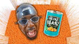 Buried Overnight In 1 MILLION Baked Beans!