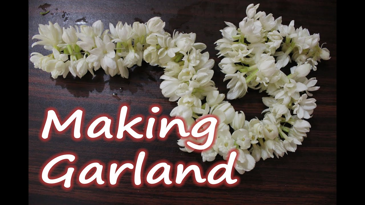 How to make a garland of jasmine flowers easy diy technique without how to make a garland of jasmine flowers easy diy technique without needle youtube izmirmasajfo