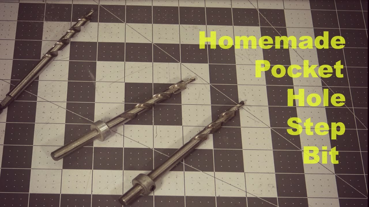 How to make a stepped drill bit for making pocket holes