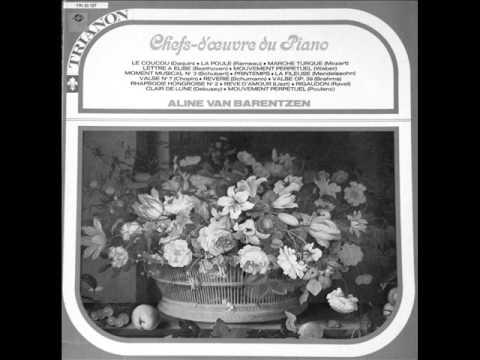 ALINE VAN BARENTZEN plays PIANO FAVOURITES (ca 1960)