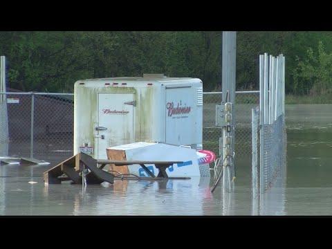 Peoria Speedway flooding