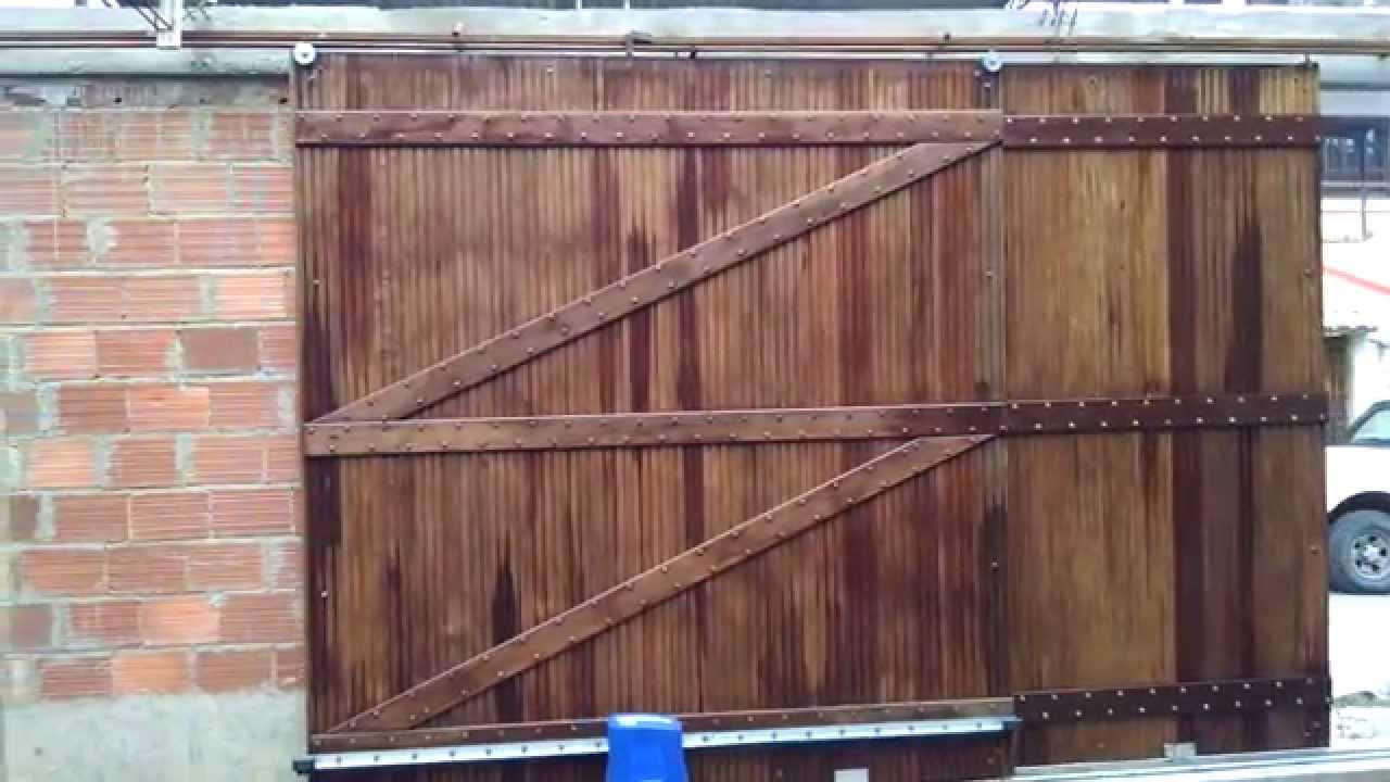 Port o deslizante 2 folhas telescopic sliding gate doovi for Sliding gate motor price in india