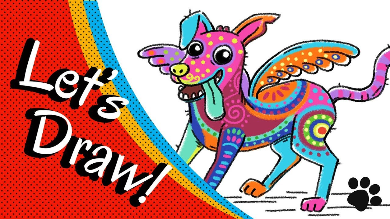 How To Draw Dog Dante Alebrije From Coco Step By Step Cute And Easy Easy Drawings For Kids