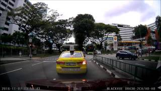 Near Miss Accident School Boy in Yishun Singapore (07-NOV-2016)