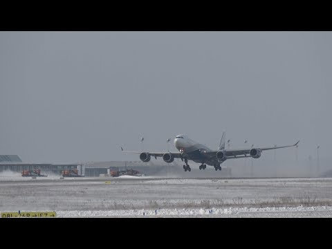 Winter Departure Airbus A340-542 // Hi Fly [CS-TFX] @ Leipzig/Halle Airport Rwy 08R