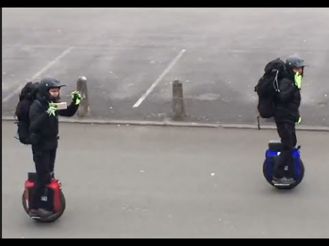 1000 Miles on Electric Unicycles - Day 1 - One Wheel One Way