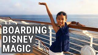 Boarding the Disney Magic - Embarkation on Disney Cruises - Disney Magic Cruise - Top Flight Family
