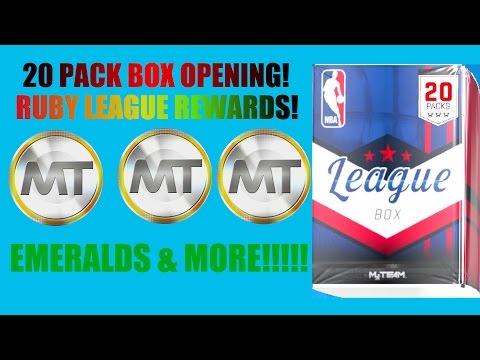 NBA 2K17 MYTEAM ONLINE RUBY LEAGUE REWARDS! 20 PACK BOX OPENING!!!