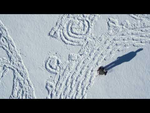 Snow Artist Simon Beck at Target Field x The Great Northern