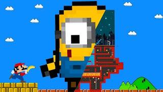 Game Box: Minion Giant Maze Vs Super Mario! Game animation