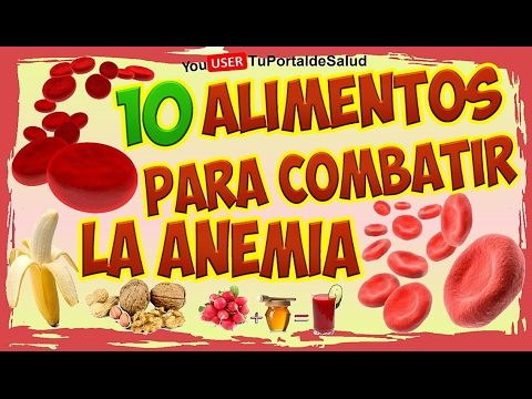comidas para subir la anemia