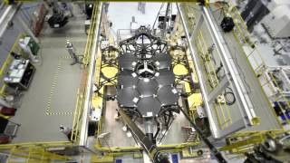 Time-lapse: The Assembly of the James Webb Space Telescope Primary Mirror