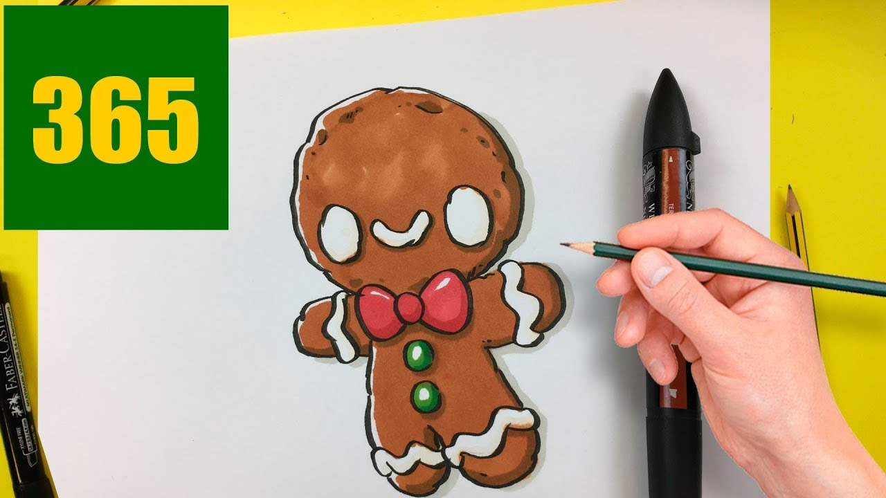 Comment dessiner cookie de no l kawaii tape par tape - Dessiner noel ...