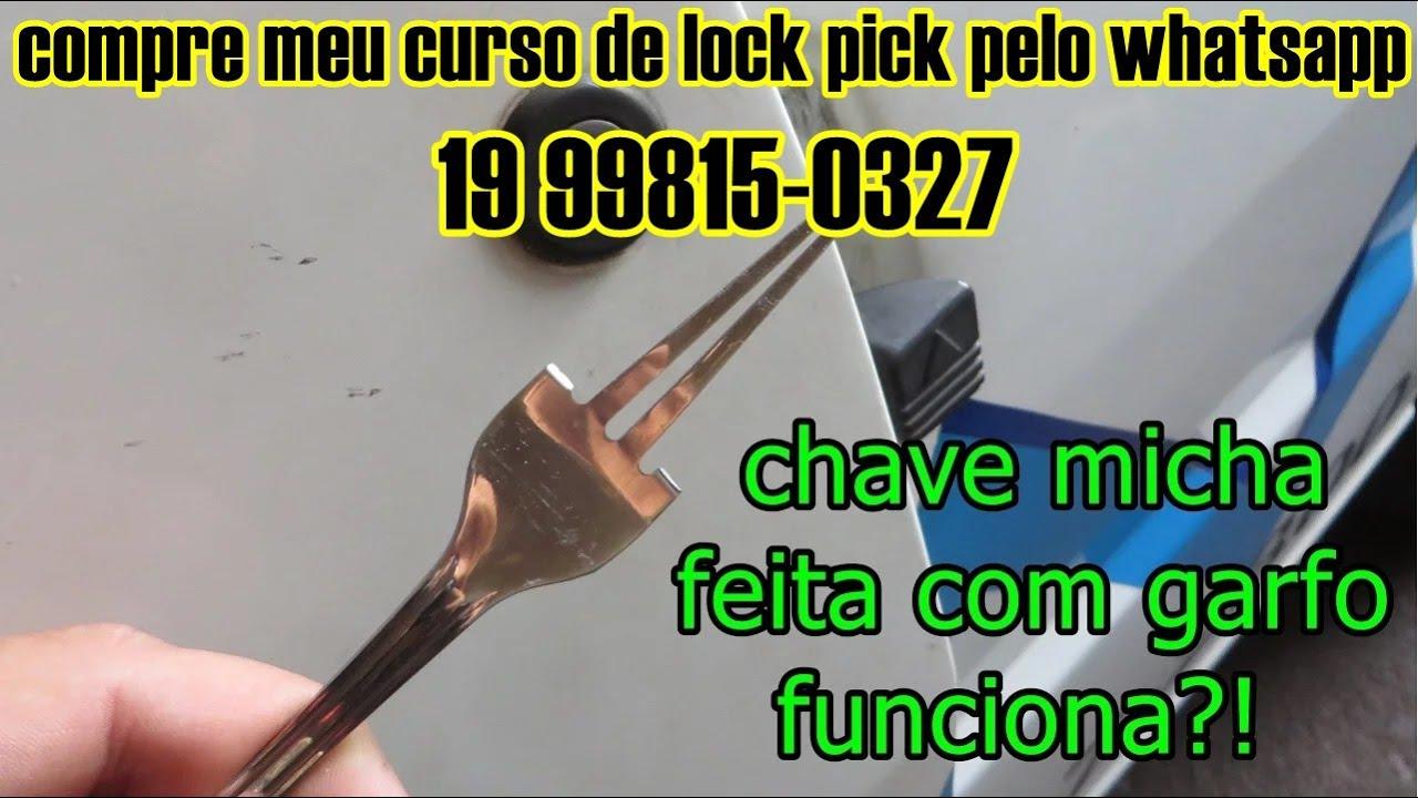 life hack chave micha feita  com garfo gazua, se você perdeu as chaves isso pode te ajudar.
