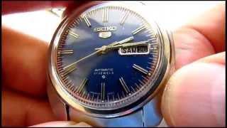 Vintage Seiko 5 Automatic 21 Jewels Wristwatch