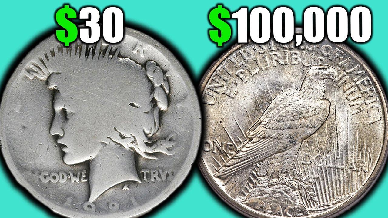 Silver Peace Dollar Coin Prices! Bad Condition VS Good Condition Coins