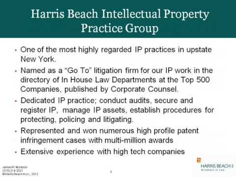 NY-BEST Webinar: Intellectual Property and Patent Law