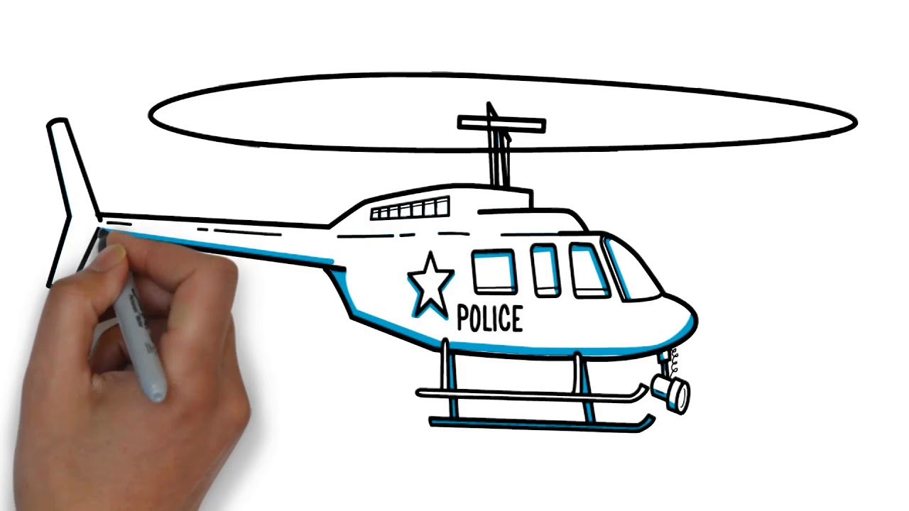 How to draw a helicopter 96