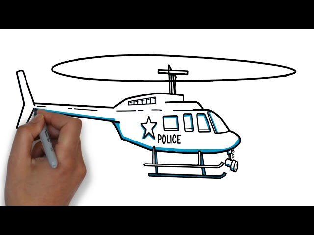 how to draw police helicopters ! Drawing for Kids ! youtube Videos for Kids