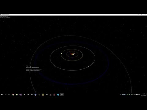 Solar System Simulation - orbits of planets