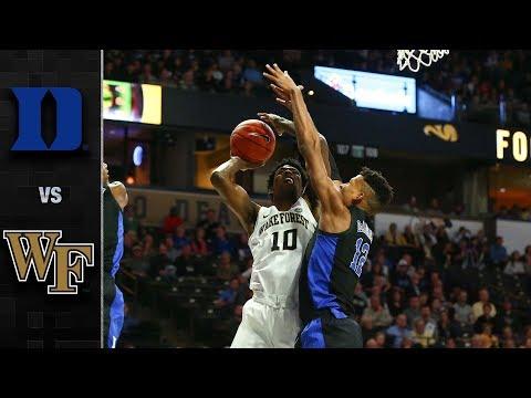 Duke vs. Wake Forest Basketball Highlights (2018-19)