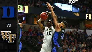 Duke vs. Wake Forest Basketball Highlights (2018-19)