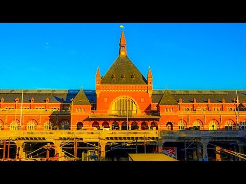 A Walk Around Central Railway Station, Copenhagen, Denmark