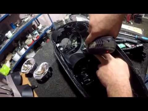 how to open the headlight